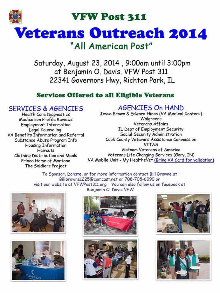 Veterans Outreach @ VFW Post 311 | Richton Park | Illinois | United States